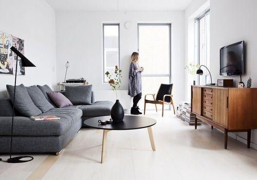 Sofá gris, una pieza atemporal   Estilo Escandinavo