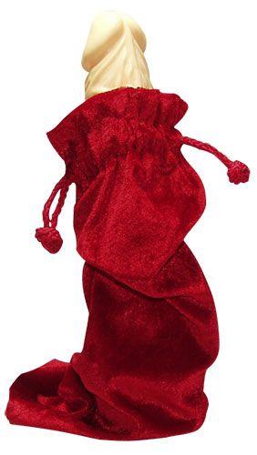 Samettipussi johon on mukava laittaa lahjat. Size: 30 cm x 12 cm.