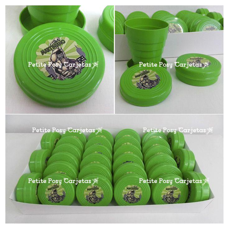 Vasos Telescópicos - Souvenirs  - Hulk