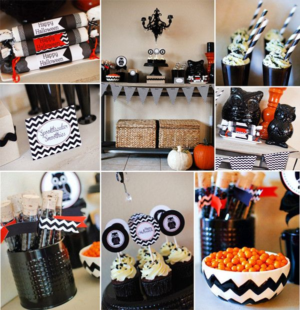 Halloween baby shower ideas baby shower ideas pinterest baby showers chevron and babies - Baby shower chevron decorations ...