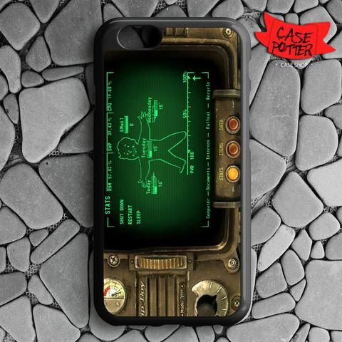 Fallout Pipboy Rainmeter iPhone 6 iPhone 6S Black Case