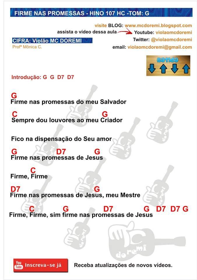 Cifra Para Violao Hino 107 Da Harpa Crista Firme Nas Promessas