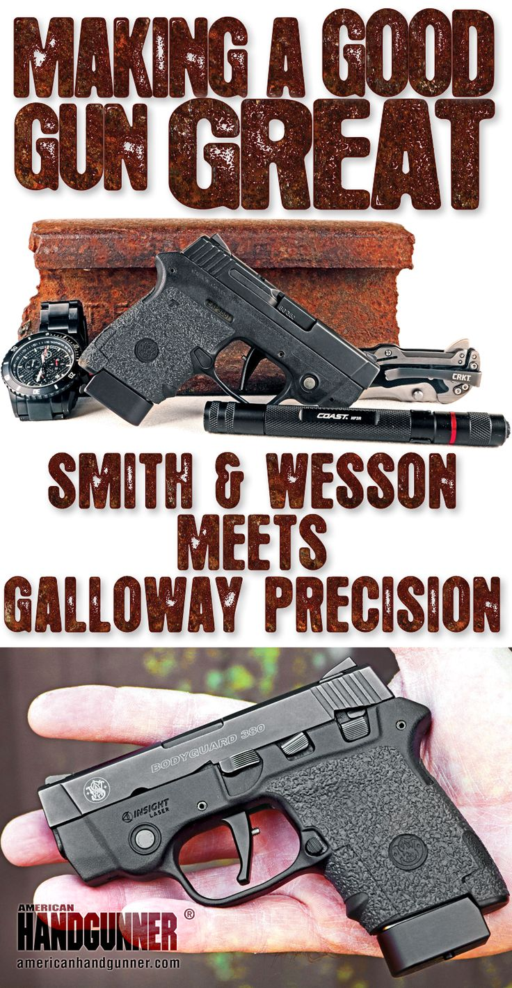 Smith & Wesson Meets Galloway Precision | By Will Dabbs, MD | Making A Good Gun Great | Sporting 8+1 rounds of .380 ACP onboard, the upgraded Bodyguard is slim, svelte and powerful. Its original trigger, however, can use a little work — that's where Galloway comes into the picture. | © American Handgunner 2018