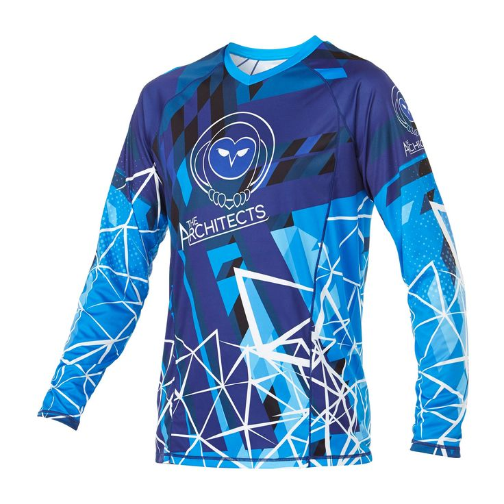 Infinite Skydiving Jersey in Blue colorway — at Manufactory Apparel.  — Products shown: Infinite Skydiving Jersey for The Architects Flight Academy #customskydivingjerseys #getintoskydiving #skydive #jerseys http://www.manufactoryapparel.com/