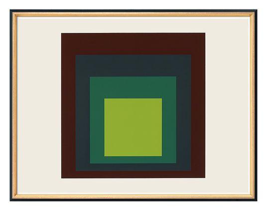 """Josef Albers: """"I-S k"""" (1973)"""