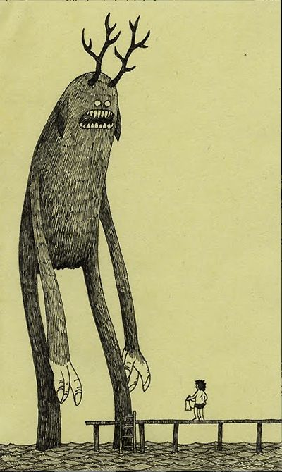 Don (not John) Kenn - is really great. All of his stuff is drawn on Post-It Notes! Check it out at: http://johnkenn.blogspot.com/
