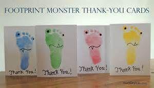 Footprint Monster Thank-You Cards