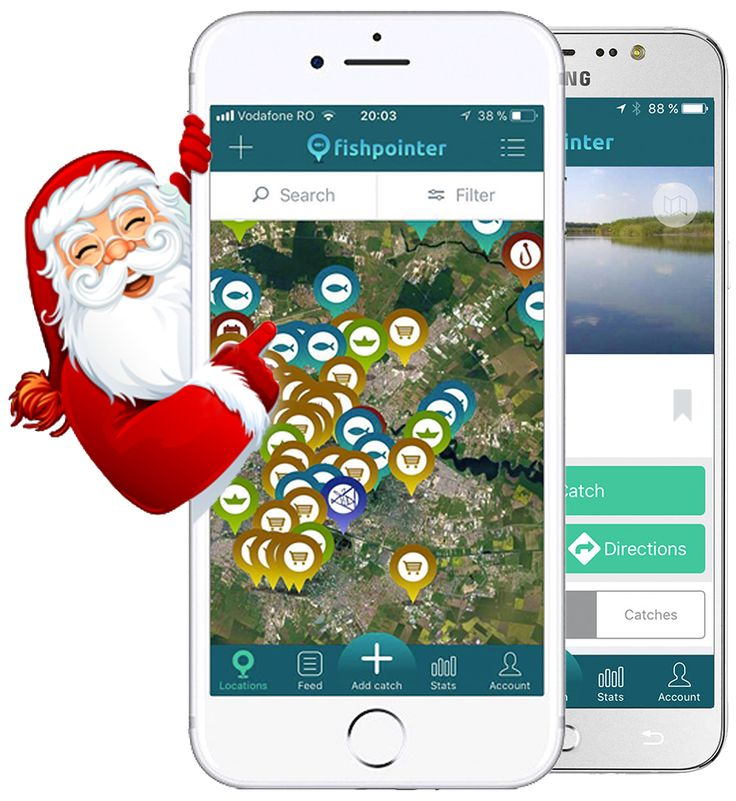 Season's Greeting from Fishpointer - live maps for your fishing passion, search tag, directions for everything fishing