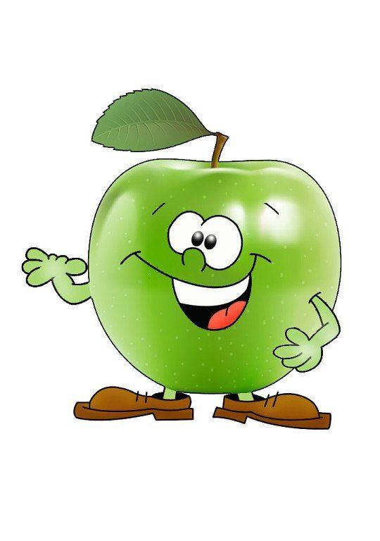 Яблоко картинка смешная