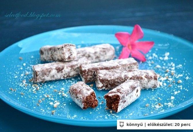 Csokoládés-mandulás-fügés rudacskák