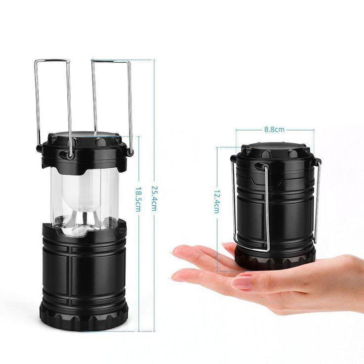 Linterna LED de Camping. Lámpara plegable (se guarda fácilmente en la mochila)