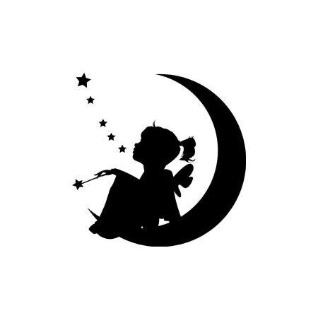 petite fille à la lune forme flex thermocollant customisation vêtement pas si godiche ! : Autres pièces pour créations par passigodiche