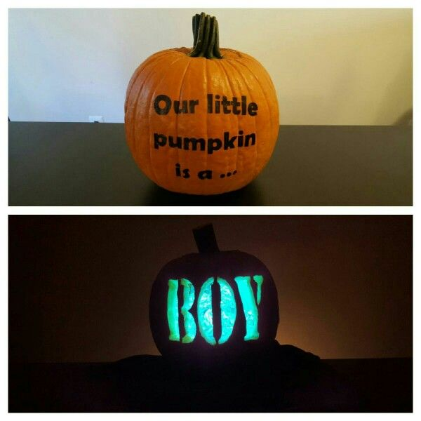 Here is our Halloween gender reveal