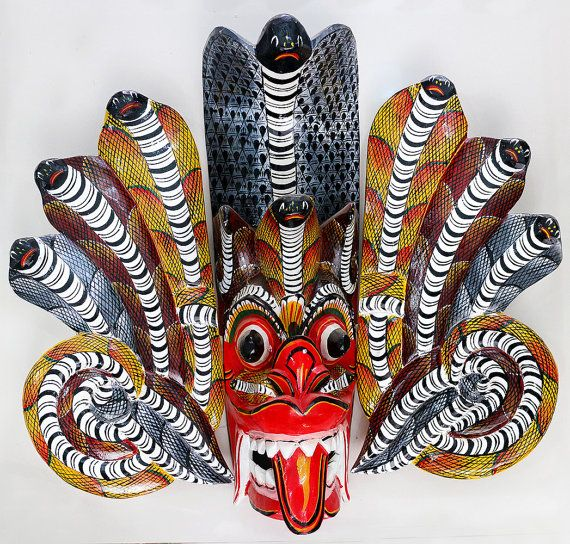 Wall mask Naga raksha natural paint Sri Lanka Traditional by ICMCM