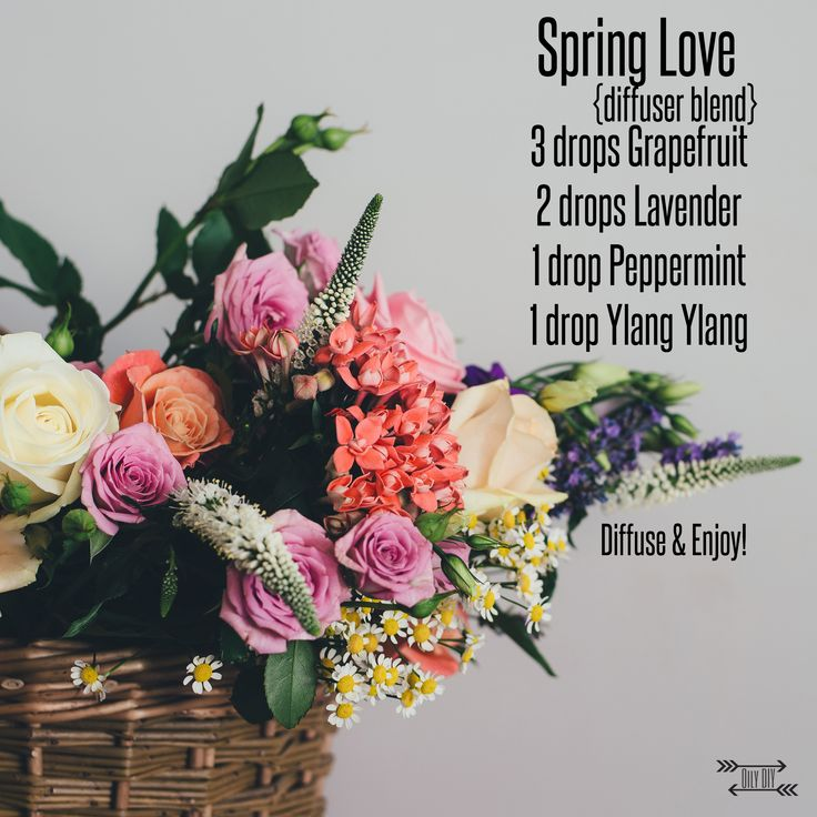 Spring Diffuser Blend www.oilydiy.com #spring #diffuser #diffuse #yleo #youngliving #essentialoils #diy #oilydiy