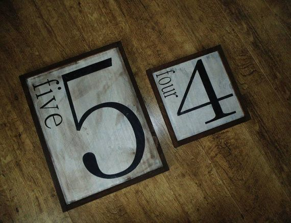 Check out this item in my Etsy shop https://www.etsy.com/ca/listing/497231872/family-number-wood-sign
