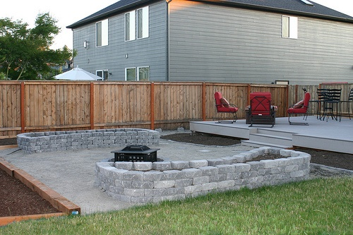 backyard idea... like this deck