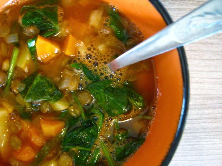 Talianska šošovicová polievka