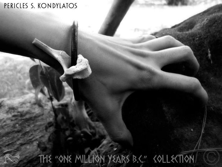 """""""One Million Years B.C."""" Collection Prehistoric jewellery  By Pericles Kondylatos There was a time on earth when dinosaurs and people where living together. People were afraid for their lives, hiding in caves; wearing bones… no one was safe! This time is back…"""