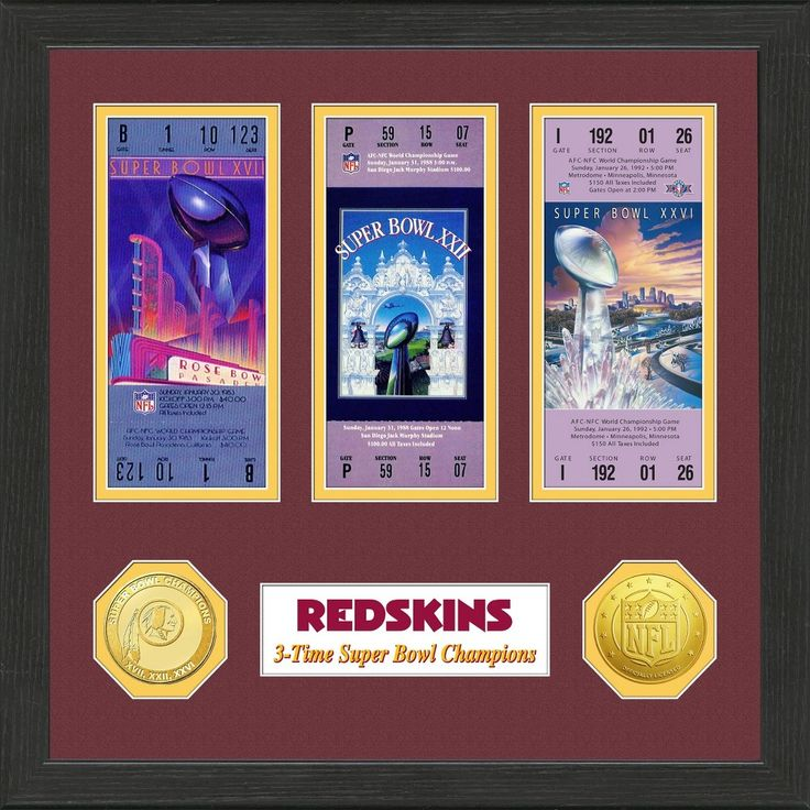 NFL Washington Redskins Super Bowl Championship Ticket Collection