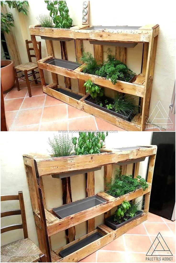 25 unique wood pallet planters ideas on pinterest palet garden furniture pallet ideas for. Black Bedroom Furniture Sets. Home Design Ideas