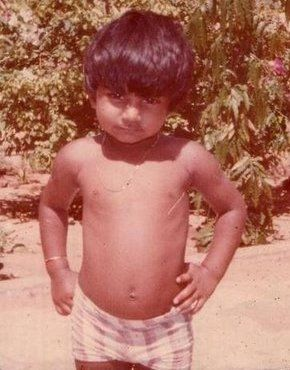 Rare Childhood Picture of Salman Khan.