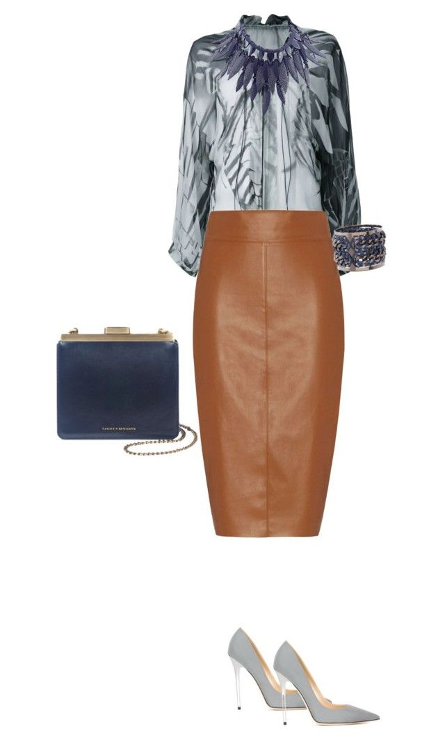 """Brown & Grey"" by lipe-1 on Polyvore featuring Ann Demeulemeester, Bailey 44, Jimmy Choo, Giorgio Armani and Pluma"