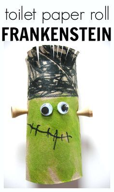 FRANKENSTEIN CRAFT toilet paper roll frankenstein craft for halloween