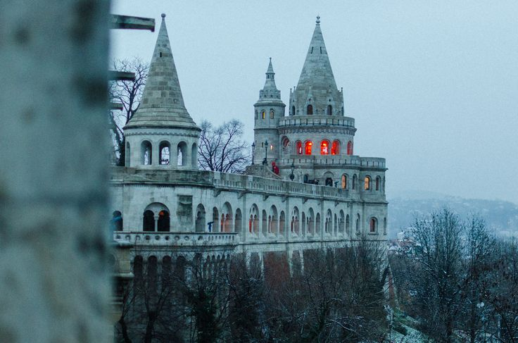 Budapest Fishermen's Bastion on a winter evening