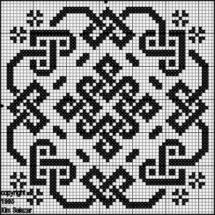 схема вышивки квадрата сварога