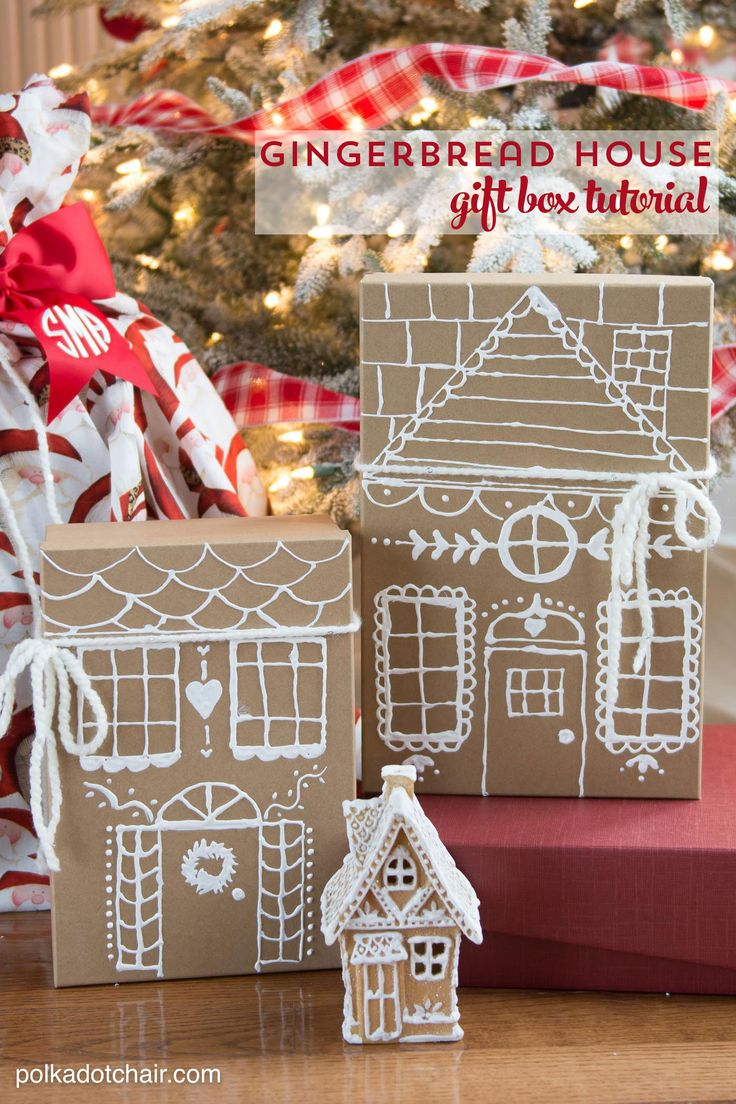 3 Cute and clever ways to wrap gifts this Christmas. Including how to make a santa sack, how to make gingerbread house gift boxes and how to make a pom pom to add to a gift. So many simple and creative gift wrap ideas!