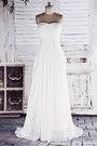 [88.99 €] Robe de mariée solennel luxueux en chiffon robe de mariée déesse manche nulle