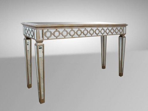 Hyde - Transitional Mirrored Console Table