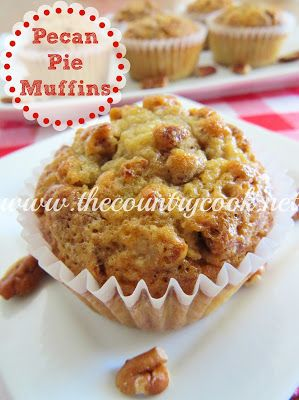 """Southern Pecan Pie Muffins - """"You *MUST* make these!! As soon as possible!! You won't regret it!"""" thecountrycook.net"""