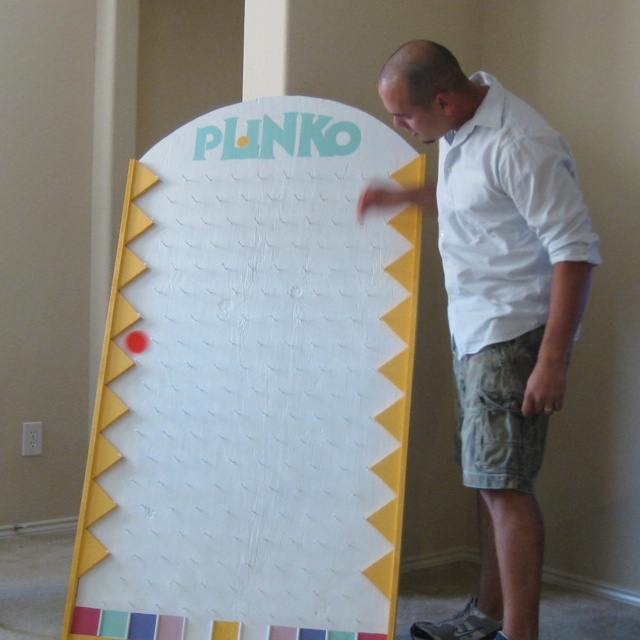 Homemade plinko board