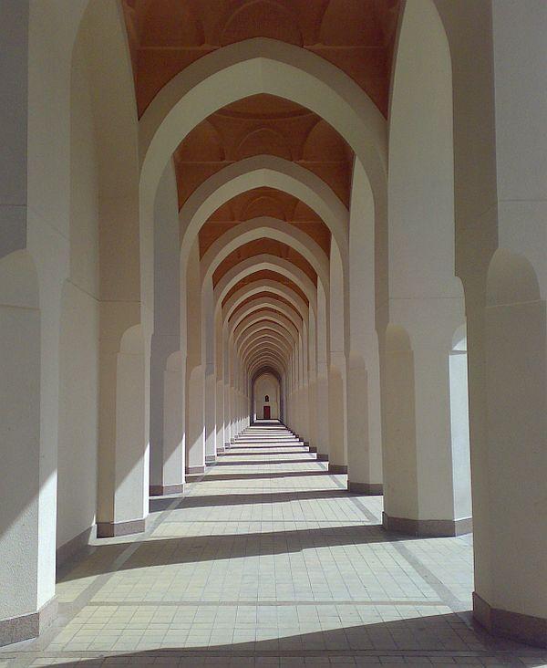 Never ending corridor.