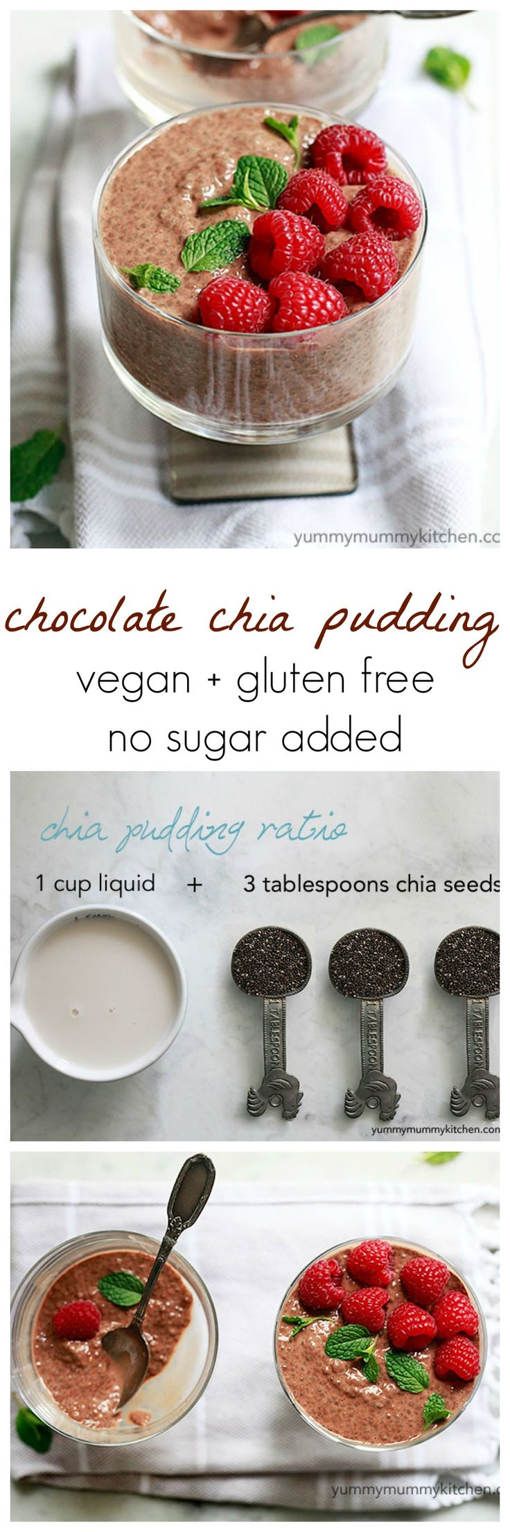 Cacao Chocolate Chia Pudding. This takes 1 minute to prepare and tastes like the best chocolate pudding. Only it's actually healthy!