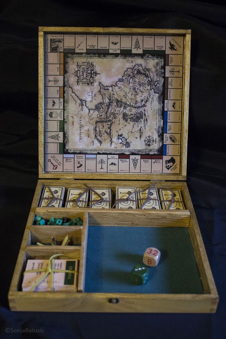 I Made A U0027Lord Of The Ringsu0027 Monopoly Board