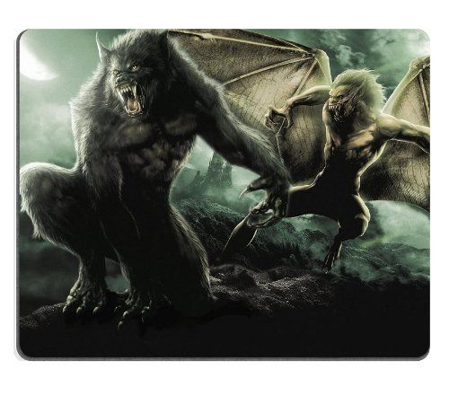Werewolf Dragon Beast Scary Evil Mouse Pads Customized Made to Order Support Ready 9 7/8 Inch (250mm) X 7 7/8 Inch (200mm) X 1/16 Inch (2mm) High Quality Eco Friendly Cloth with Neoprene Rubber MSD Mouse Pad Desktop Mousepad Laptop Mousepads Comfortable Computer Mouse Mat Cute Gaming Mouse_pad ** Details can be found by clicking on the image.