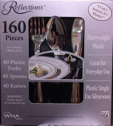 Reflections 160 Heavy Duty Plastic Silverware Wedding Party Disposable Utensils | eBay