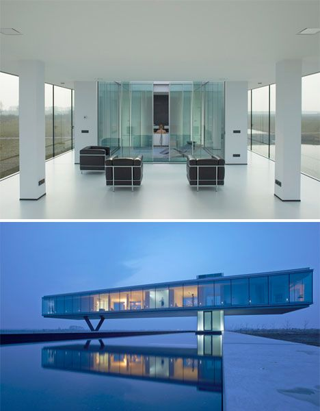 Clear View: Glass Box Hovers Over Subterranean Home