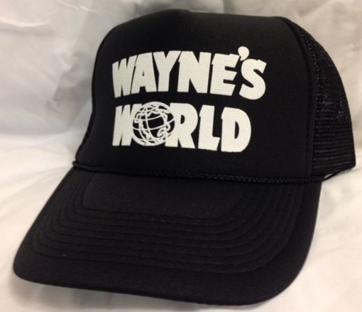 Wayne's World Hat Cap Trucker Hat New adjustable Black - ebay