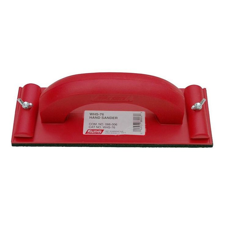 Wal-Board Tools 3-1/4 in. x 9-1/4 in. Plastic Hand Sander-88-006 - The Home Depot