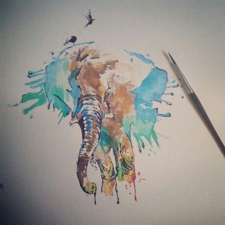 #elefant #watercolor
