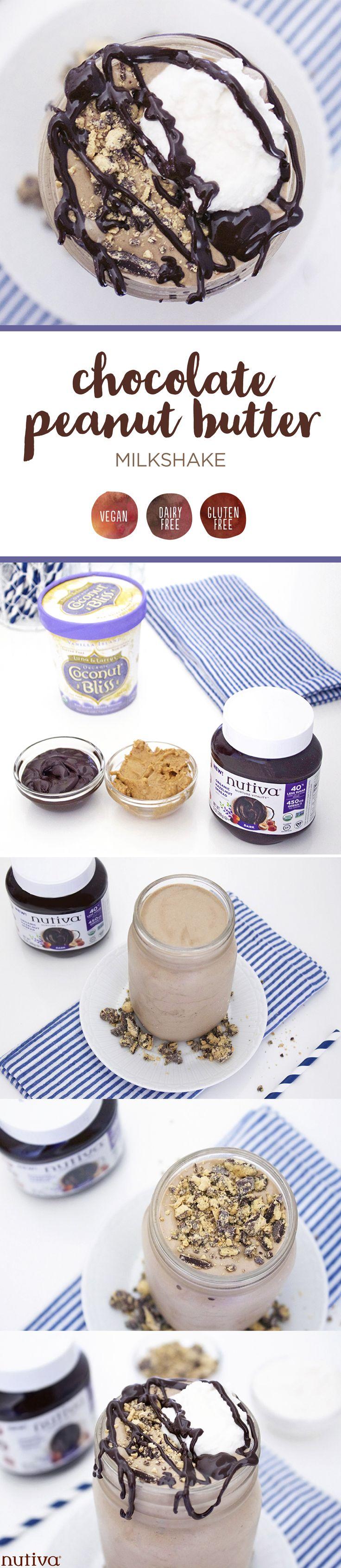 Chocolate Peanut Butter Milkshake kitchen.nutiva.com