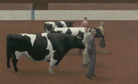 Cattle show by David Alexander Colville
