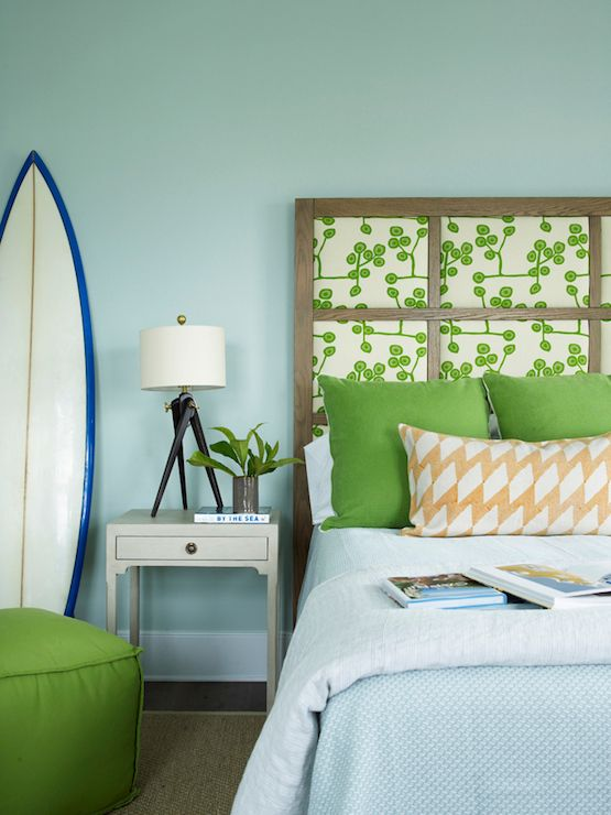 Green Amp Light Blue Bedroom SW Rainwashed Paint House