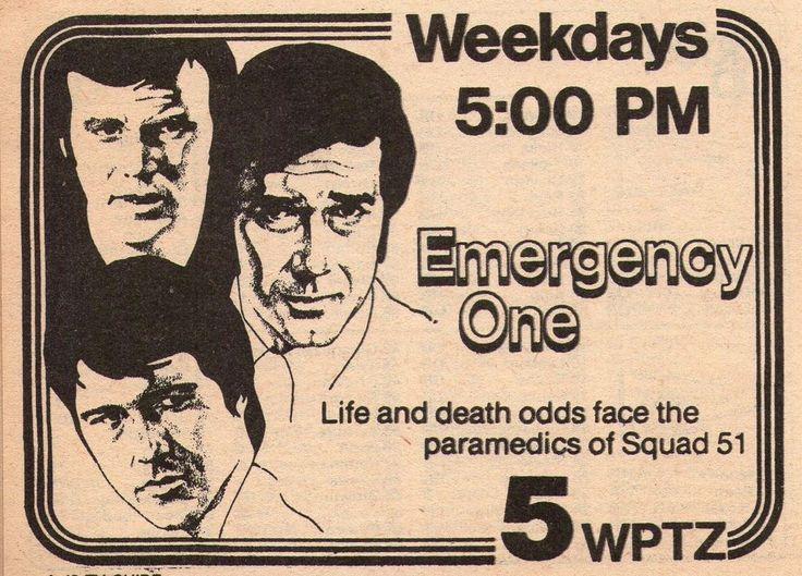 1978 WPTZ tv ad ~ EMERGENCY ONE ~ Randolph Mantooth/Robert Fuller/Kevin Tighe