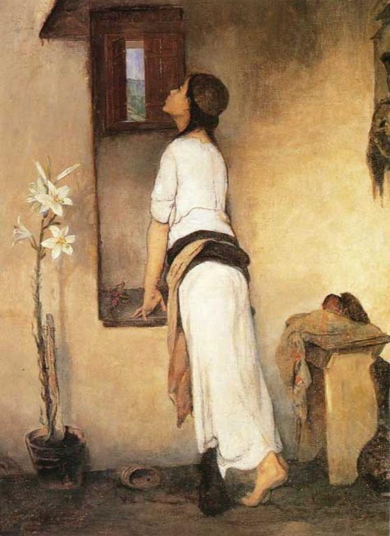 By Nickiforos Lytras, Waiting. [Λύτρας Νικηφόρος-Αναμονή, π. 1895-1900]
