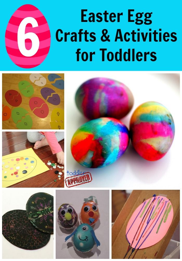 6 Easter Egg Crafts & Activities for Toddlers
